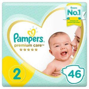 Μαμά - Παιδί Pampers – Premium Care Value Pack No 2 (4-8kg) Βρεφικές Πάνες 46τμχ