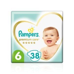 Μαμά - Παιδί Pampers – Jumbo Premium Care Value Pack No 6 (13+ kg) Βρεφικές Πάνες 38τμχ
