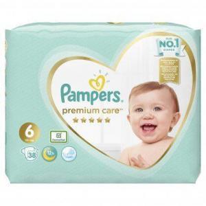 Βρεφική Φροντίδα Pampers – Jumbo Premium Care Value Pack No 6 (13+ kg) Βρεφικές Πάνες 38τμχ
