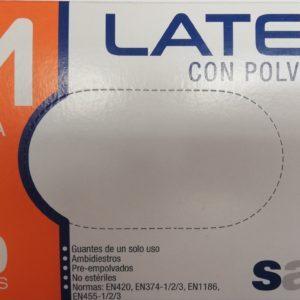 Φαρμακείο Santex – Γάντια Latex με Πούδρα Medium 100 τμχ