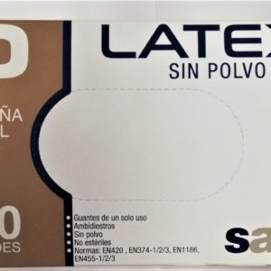 ΑΝΑΛΩΣΙΜΑ ΙΑΤΡΕΙΟΥ Santex – Γάντια Latex χωρίς Πούδρα Small 100 τμχ