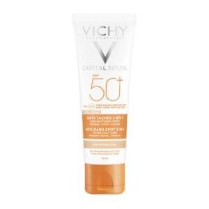 Αντηλιακά Προσώπου Vichy – Capital Soleil Anti Dark Spot Tinted Αντηλιακή Κρέμα Προσώπου SPF50 με Χρώμα μη Λιπαρής Υφής Κατά των Κηλίδων 50ml