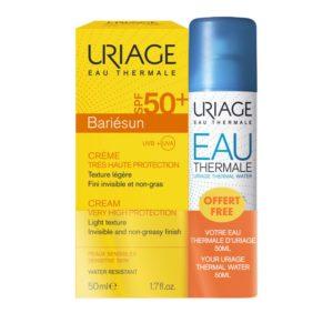 Περιποίηση Προσώπου Uriage – Promo Bariesun Creme SPF50+ Αντηλιακή Κρέμα Λεπτόρευστης Υφής Αόρατη 50ml και Δώρο Eau Thermale Water Spray Ιαματικό Νερό 50ml