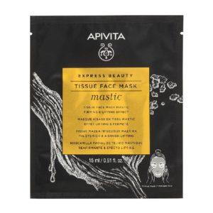 Περιποίηση Προσώπου Apivita – Express Sheet Mask Mastic Μάσκα Προσώπου Μαστίχα για Σύσφιξη 15ml 1τμχ