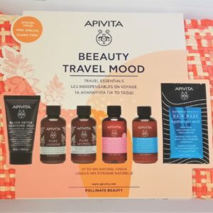 Περιποίηση Προσώπου Apivita – PROMO Travel Kit Beeauty Travel Mood Black Detox Pure Jasmine Intimate Hydration Hair Mask Hyaluronic Acid Σετ Ταξιδιού