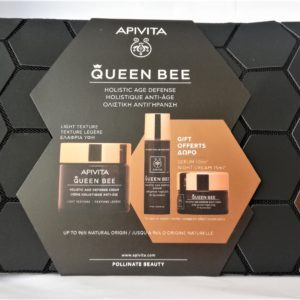 Περιποίηση Προσώπου Apivita – PROMO Queen Bee Travel Set Holistic Age Defense Light Cream Δώρο Serum 10ml Night Cream 15ml