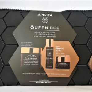 Περιποίηση Προσώπου Apivita – PROMO Queen Bee Travel Set Holistic Age Defense Rich Cream Δώρο Serum 10ml Night Cream 15ml