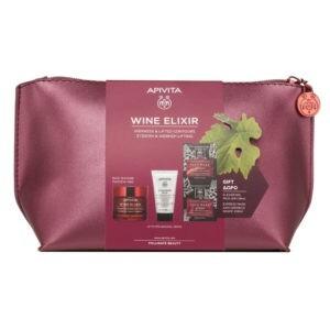 Γυναίκα Apivita – Set Wine Elixir Αντιρυτιδική Κρέμα για Σύσφιξη και Lifting Πλούσια Υφή 50ml και Cleansing Γαλάκτωμα Καθαρισμού 50ml και Face Mask with grape 2x8ml