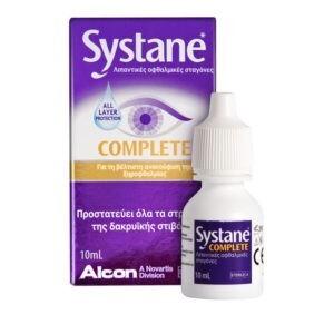 Φαρμακείο Systane – Complete Λιπαντικές Οφθαλμικές Σταγόνες 10ml