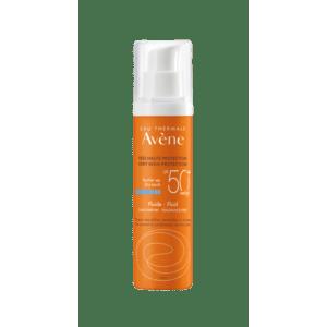 Άνοιξη Avene – Eau Thermale Solaire Fluide SPF50+ Sans Parfum Αντηλιακή Λεπτόρρευστη Κρέμα Προσώπου χωρίς άρωμα για Κανονική Μικτή και Λιπαρή επιδερμίδα 50ml