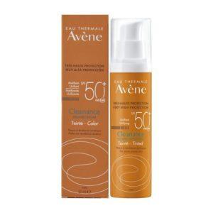 Περιποίηση Προσώπου Avene – Eau Thermale Cleanance Solaire Tinted SPF50+ Αντηλιακό Γαλάκτωμα Με Χρώμα Για Λιπαρό και Με Τάση Ακμής Επιδερμίδα 50ml