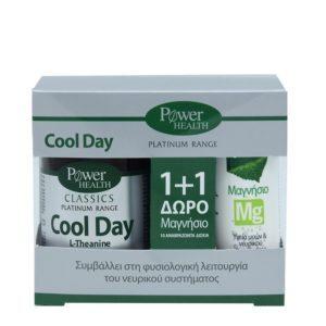 Διατροφή & Υγεία PowerHealth – Classics Platinum Cool Day για τον Έλεγχο της Διάθεσης 30 tabs  Δώρο Μαγνήσιο 10 Αναβράζοντα Δισκία