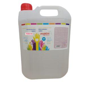 => STOP COVID-19 Maklin – Αλκοολούχο Καθαριστικό Χεριών 4L