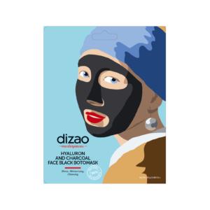 Περιποίηση Προσώπου Dizao – Hyaluron και Charcoal Face Black Botomask Μάσκα Καθαρισμού 1τμχ