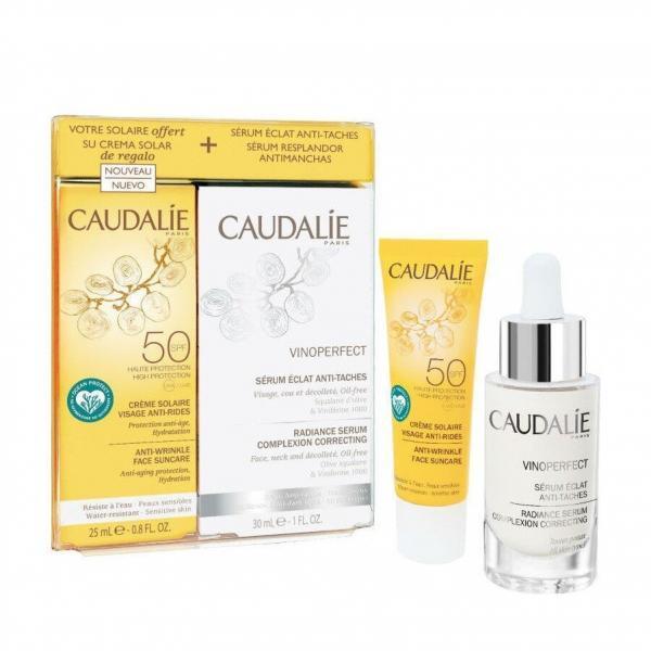 Γυναίκα Caudalie – Promo Vinoperfect Serum Ορός Λάμψης Κατά των Πανάδων 30ml και Δώρο Αντιγηραντική Αντηλιακή Spf50 Κρέμα Προσώπου 25ml