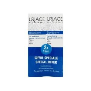 Περιποίηση Προσώπου Uriage – Promo Bariederm Cica Lips Repairing Επανορθωτικό Balm Χειλιών 2x15ml