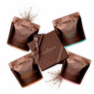 Γυναίκα Cocosolis – Luxury Coffee Scrub Box Πολυτελές Κουτί με 4 Φυσικά Bio Scrubs 3 για το Σώμα και 1 για το Πρόσωπο 280g 4x70g