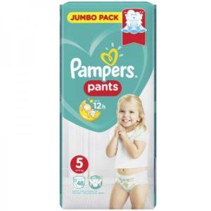 Βρεφική Φροντίδα Pampers – Pants Βρεφικές Πάνες Νο5 (12 – 17Kg) 48τμχ
