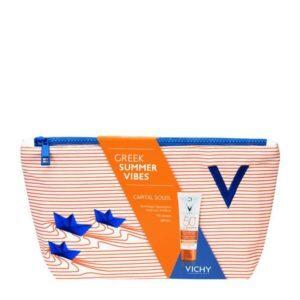 Γυναίκα Vichy – Promo Capital Soleil Anti-Dark Spots αντηλιακή κρέμα Spf50 και Δώρο Νεσεσέρ Greek Summer Vibes