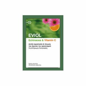 Διατροφή & Υγεία Eviol – Echinacea και Vitamin C για Ενίσχυση του Ανοσοποιητικού 30 caps