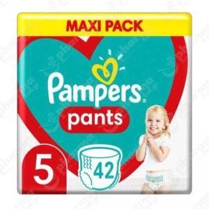 Μαμά - Παιδί Pampers – Pants Βρεφικές Πάνες Νο5 (12 – 17Kg) 42τμχ