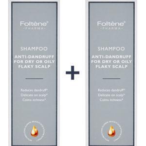 Γυναίκα Foltene – Promo Shampoo Antidandruff Oily Flaky Scalp Σαμπουάν Κατά της Πιτυρίδας Λιπαρή και Ξηρή 1+1 Δώρο 400ml