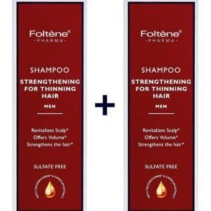 Γυναίκα Foltene – Promo Shampoo Thinning Hair Men Δυναμωτικό Σαμπουάν Κατά της Ανδρικής Tριχόπτωσης 1+1 Δώρο 400ml