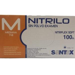 => STOP COVID-19 Santex – Γάντια Νιτριλίου Μπλέ Χωρίς Πούδρα 100τεμ