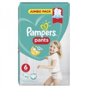 Βρεφική Φροντίδα Pampers – Pants Βρεφικές Πάνες Νο6 (15+Kg) 44 Τμχ