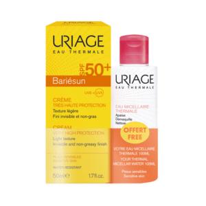 Γυναίκα Uriage – Promo Αντιηλιακή Κρέμα Προσώπου για Ευαίσθητες Επιδερμίδες 50ml και Δώρο Ιαματικό Micellar Νερό 100 ml
