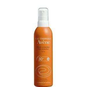 Άνοιξη Avene – Sunscreen Spray Αντηλιακό Σπρέι Υψηλής Προστασίας SPF30 200ml