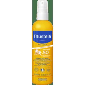 Άνοιξη Mustela – Bebe High Protection Sun Spray Παιδικό Αντηλιακό SPF50 200ml