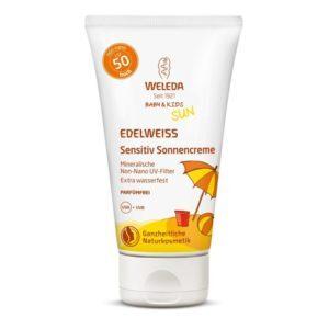 Μαμά - Παιδί Weleda – Edelweiss Baby and Kids Sun Αντιηλιακή Κρέμα για το Ευαίσθητο Δέρμα SPF50 50ml