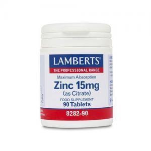 Διατροφή & Υγεία Lamberts – Zinc Citrate 15mg Συμπλήρωμα Ψευδάργυρου 90 tabs