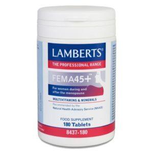 Βιταμίνες Lamberts – Fema 45+ για Γυναίκες στην Εμμηνόπαυση 180tabs