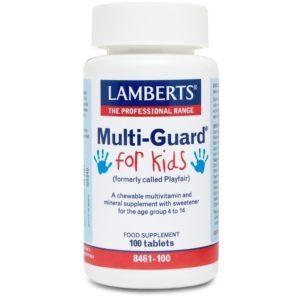 Παιδικές Βιταμίνες Lamberts – Multi Guard For Kids Παιδική Πολυβιταμίνη για 4-14 Ετών 100tabs