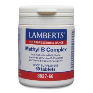 Βιταμίνες Lamberts – Methyl B Complex Συμπλήρωμα Βιταμινών Συμπλέγματος B 60tabs