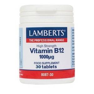 Βιταμίνες Lamberts – Vitamin B12 1000mg 30tabs