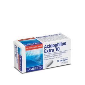 Αντιμετώπιση Lamberts – Acidophilus Extra 10 Προβιοτικό Σκεύασμα Milk Free 60caps