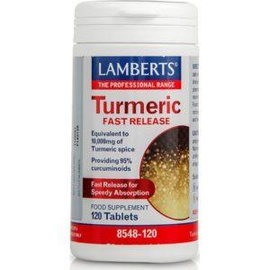 Αντιμετώπιση Lamberts – Turmeric Fast Release Συμπλήρωμα Διατροφής με Κουρκουμά για την Αντιμετώπιση των Μυοσκελετικών Προβλημάτων 120tabs