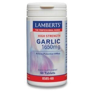 Βιταμίνες Lamberts – Garlic 1650mg Σκόρδο 60 Ταμπλέτες