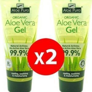 Γυναίκα Optima – Promo Organic Aloe Vera Gel 99.9% Ζελέ Aλόης για Eνυδάτωση 2x200ml