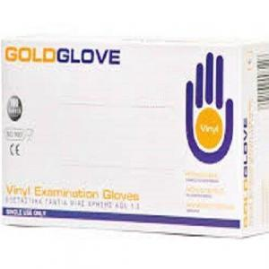 Διάφορα Αναλώσιμα-ph GoldGlove – Εξεταστικά Γάντια μιας Χρήσης Βινυλίου με Πούδρα X-Large 100 τμχ