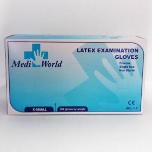 Διάφορα Αναλώσιμα-ph Mediworld – Εξεταστικά Γάντια Λάτεξ Ελαφρώς Πουδραρισμένα X-Small 100 τμχ