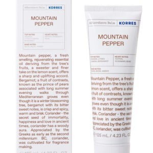 Περιποίηση Προσώπου-Άνδρας Korres – Γαλάκτωμα Mountain Pepper Aftershave Balm με Ευεργετικά Φυσικά Συστατικά 125ml