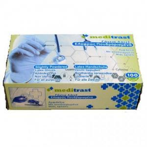 Διάφορα Αναλώσιμα-ph Meditrast – Examination Gloves Latex Lightly Powdered Large 100 pcs