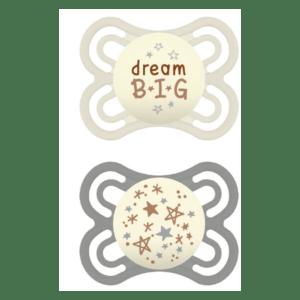 Πιπίλες - Μπιμπερό MAM – Perfect Night Πιπίλες Σιλικόνης για 2-6 Μηνών 2 τεμάχια