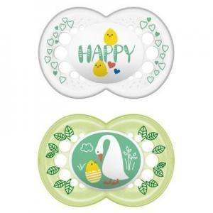 Μαμά - Παιδί MAM – Hello Spring Ορθοδοντική Πιπίλα Σιλικόνης 6-16m 2τμχ