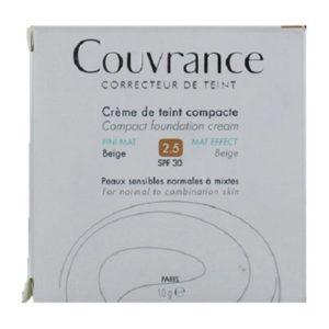 Γυναίκα Avene – Couvrance Creme de Teint Oil Free Κρέμα Compact για Ματ Τελείωμα 2.5 Beige SPF30 Fini Mat 10gr