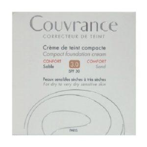 Γυναίκα Avene – Couvrance Creme de Teint Compacte Confort Make Up Κρέμα Compact Sable 3.0 SPF30 10gr